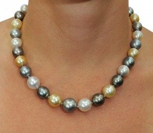 Strand of Mixed Pearls (Golden South Sea, Tahitian, White)